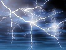 Lightening. Illustration of striking lightenings in the sky