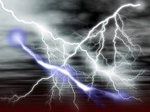 Lightening. Illustration of striking lightenings in the sky Vector Illustration