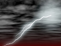 Lightening. Illustration of the Lightening and skies Stock Images