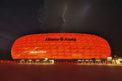 Lightning Above Allianz Arena Royalty Free Stock Image