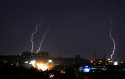 Lightening in Bhopal Royalty Free Stock Photos