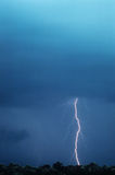 Lightening Bolt Striking The Ground Royalty Free Stock Photo