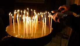 Free Lightening Candles In Holy Sepulchre Church, Jerusalem, Israel Stock Images - 148848044