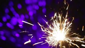 Lightening Christmas sparkler stock footage