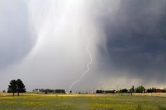 Lightening on the Colorado Prarie Stock Photos