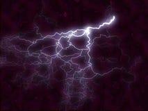 lightening för bakgrundsbultfractal Arkivfoto