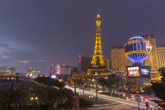 Lightening on Las Vegas Boulevard in Las Vegas, NV on July 19, 2 Royalty Free Stock Image