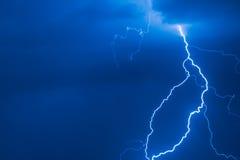 Lightening in Latvia sky. Stock Images