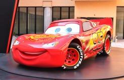 Lightening McQueen från de Pixar filmbilarna Royaltyfri Bild