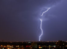 Lightening in the sky Royalty Free Stock Image