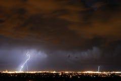 Lightening in the sky Stock Photos