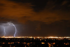 Lightening in the sky Royalty Free Stock Photography