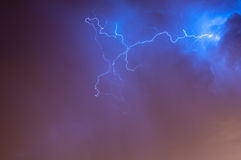 Lightening Skyscape Stock Photo