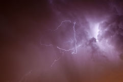 Lightening Skyscape Royaltyfri Bild