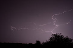 Lightening Storm Royalty Free Stock Photography