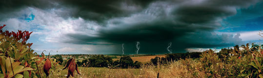 Lightening storm Royalty Free Stock Images