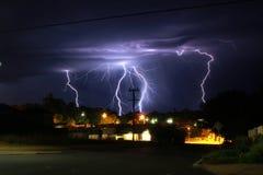 Lightening Strike. What a lightening night at Margaret River Stock Photos