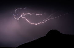 Lightening strike Stock Images