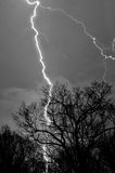 Lightening Strike. On a stormy night Stock Photos