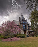 Lightening Striking Landmark Building in Napa Valley Stock Image