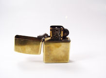 Lighter. Photo of Old Zippo Style Lighter royalty free stock photo