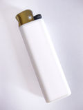 Lighter. White lighter on white background Stock Photo