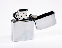 Lighter. A brushed metal zippo lighter Royalty Free Stock Images