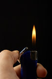 Lighter. Photo of lighter on dark background Royalty Free Stock Photo