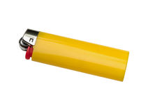 Lighter. Yellow lighter isolated on white background with clipping path Royalty Free Stock Photography