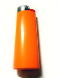 Lighter. Orange Lighter royalty free stock photo