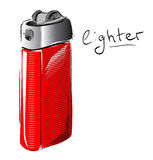 Lighter cartoon sketch vector illustration Stock Photos