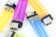 Lighter. Different colored lighters for your website or article royalty free stock image