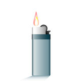 Lighter with fire. Vector Stock Photos