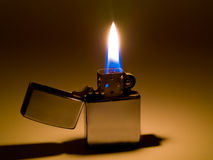 Lighter and Flame Royalty Free Stock Photos