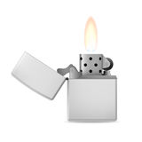 Lighter with flame. Stock Image