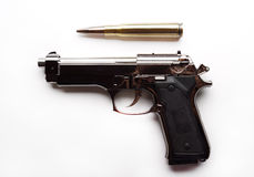 Lighter-gun and patron isolated Royalty Free Stock Photos