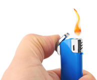 Lighter in hand Stock Image