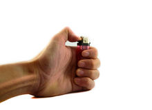 Lighter in hand Royalty Free Stock Image