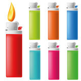 Lighter Icon Set. Seven color variation Royalty Free Stock Photos