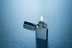 Lighter. Image of lighter on fire Royalty Free Stock Image