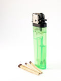 Lighter and matches Royalty Free Stock Photography