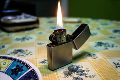 Lighter. From my friend. Coffee time Royalty Free Stock Image