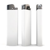 Lighter in three angles on a white background. 3d rendering. Lighter in different angles isolated on a white background. 3d render image Royalty Free Stock Images