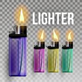 Lighter Vector. Fuel Ignite. Flaming Style. 3D Realistic Lighter Icon. Illustration vector illustration