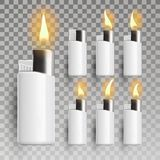 Lighter Vector. Promotion Accessory. 3D Realistic Lighter Icon. Illustration royalty free illustration