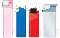 Lighters. Various cigarette lighters (vector available vector illustration