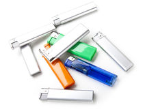 Lighters of different colors Stock Photo
