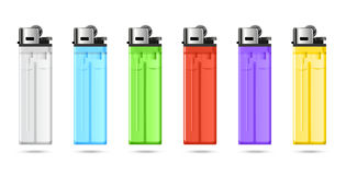 Lighters set Royalty Free Stock Images