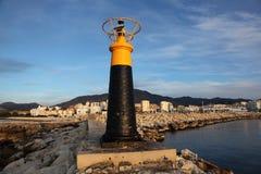 Lighthose在Estepona,西班牙 库存图片
