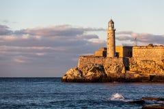 Lighthose,哈瓦那,古巴 库存图片